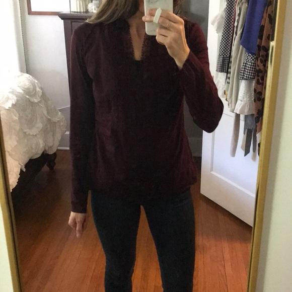 Converse Tops - Converse plum colored lace blouse
